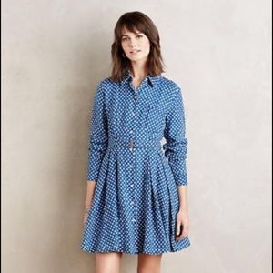Holding Horses Anthro Dotted Linen Dress